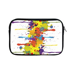 Crazy Multicolored Double Running Splashes Apple Ipad Mini Zipper Cases