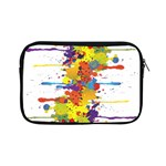 Crazy Multicolored Double Running Splashes Apple iPad Mini Zipper Cases Front