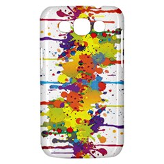Crazy Multicolored Double Running Splashes Samsung Galaxy Win I8550 Hardshell Case