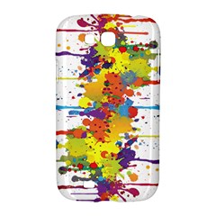 Crazy Multicolored Double Running Splashes Samsung Galaxy Grand GT-I9128 Hardshell Case