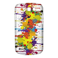 Crazy Multicolored Double Running Splashes Samsung Galaxy Express I8730 Hardshell Case
