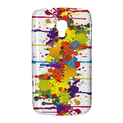 Crazy Multicolored Double Running Splashes Samsung Galaxy Duos I8262 Hardshell Case