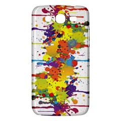 Crazy Multicolored Double Running Splashes Samsung Galaxy Mega 5.8 I9152 Hardshell Case