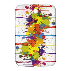 Crazy Multicolored Double Running Splashes Samsung Galaxy Note 8 0 N5100 Hardshell Case