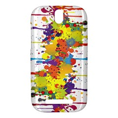 Crazy Multicolored Double Running Splashes HTC One SV Hardshell Case