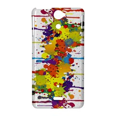 Crazy Multicolored Double Running Splashes Sony Xperia V