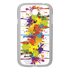 Crazy Multicolored Double Running Splashes Samsung Galaxy Grand DUOS I9082 Case (White)