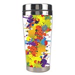 Crazy Multicolored Double Running Splashes Stainless Steel Travel Tumblers Center