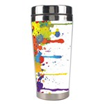 Crazy Multicolored Double Running Splashes Stainless Steel Travel Tumblers Right