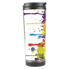 Crazy Multicolored Double Running Splashes Travel Tumbler