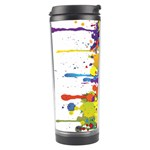 Crazy Multicolored Double Running Splashes Travel Tumbler Left