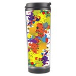 Crazy Multicolored Double Running Splashes Travel Tumbler Center