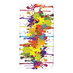 Crazy Multicolored Double Running Splashes Samsung Note 2 N7100 Hardshell Back Case Front