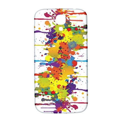Crazy Multicolored Double Running Splashes Samsung Galaxy S4 I9500/I9505  Hardshell Back Case