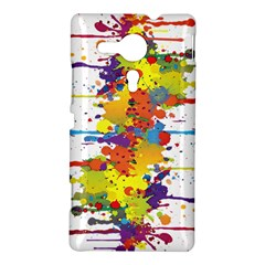Crazy Multicolored Double Running Splashes Sony Xperia SP