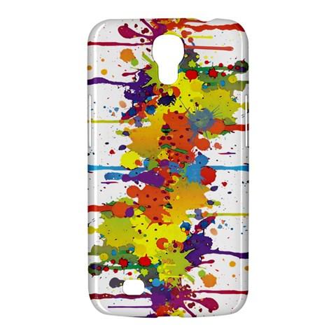Crazy Multicolored Double Running Splashes Samsung Galaxy Mega 6.3  I9200 Hardshell Case