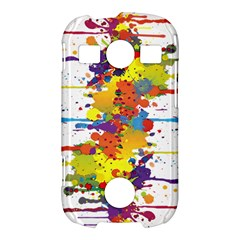 Crazy Multicolored Double Running Splashes Samsung Galaxy S7710 Xcover 2 Hardshell Case