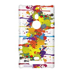 Crazy Multicolored Double Running Splashes Nokia Lumia 925