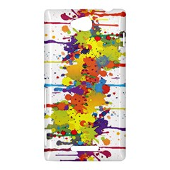 Crazy Multicolored Double Running Splashes Sony Xperia C (S39H)