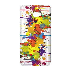 Crazy Multicolored Double Running Splashes HTC Butterfly S/HTC 9060 Hardshell Case