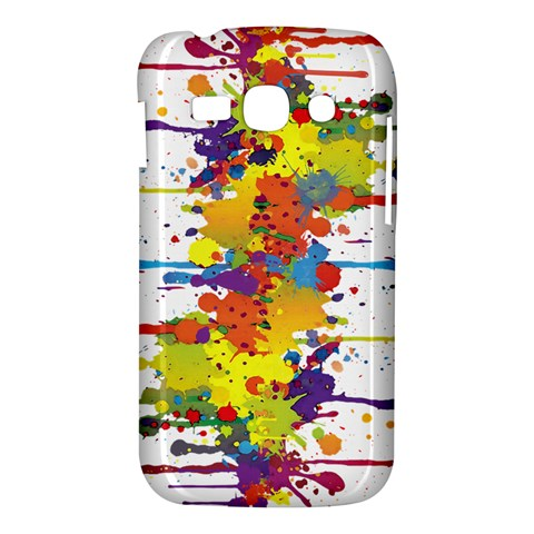 Crazy Multicolored Double Running Splashes Samsung Galaxy Ace 3 S7272 Hardshell Case