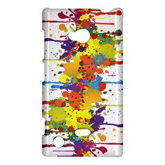 Crazy Multicolored Double Running Splashes Nokia Lumia 720