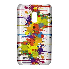 Crazy Multicolored Double Running Splashes Nokia Lumia 620