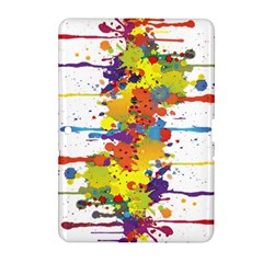 Crazy Multicolored Double Running Splashes Samsung Galaxy Tab 2 (10 1 ) P5100 Hardshell Case