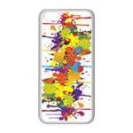 Crazy Multicolored Double Running Splashes Apple iPhone 5C Seamless Case (White) Front