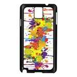 Crazy Multicolored Double Running Splashes Samsung Galaxy Note 3 N9005 Case (Black) Front
