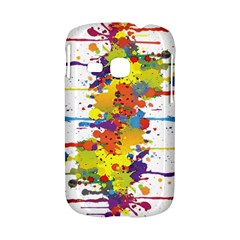 Crazy Multicolored Double Running Splashes Samsung Galaxy S6310 Hardshell Case