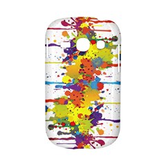 Crazy Multicolored Double Running Splashes Samsung Galaxy S6810 Hardshell Case