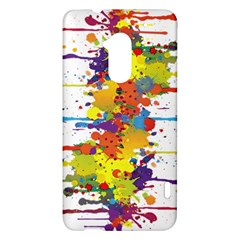 Crazy Multicolored Double Running Splashes HTC One Max (T6) Hardshell Case