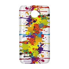 Crazy Multicolored Double Running Splashes HTC Desire 601 Hardshell Case