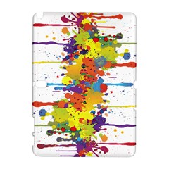 Crazy Multicolored Double Running Splashes Samsung Galaxy Note 10 1 (p600) Hardshell Case