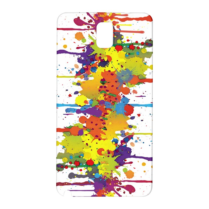 Crazy Multicolored Double Running Splashes Samsung Galaxy Note 3 N9005 Hardshell Back Case