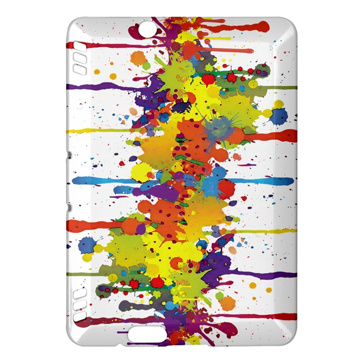 Crazy Multicolored Double Running Splashes Kindle Fire HDX Hardshell Case