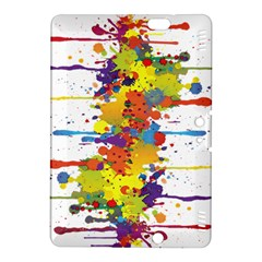 Crazy Multicolored Double Running Splashes Kindle Fire Hdx 8 9  Hardshell Case