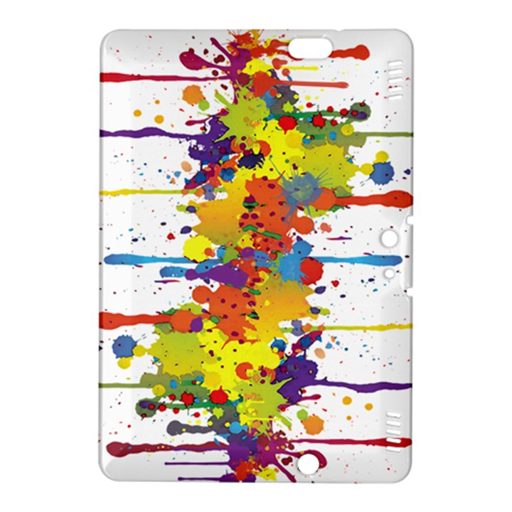 Crazy Multicolored Double Running Splashes Kindle Fire HDX 8.9  Hardshell Case