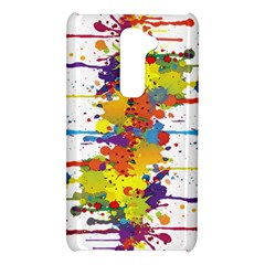 Crazy Multicolored Double Running Splashes LG G2