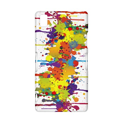 Crazy Multicolored Double Running Splashes Sony Xperia Z1