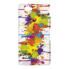 Crazy Multicolored Double Running Splashes Sony Xperia Z1 Compact