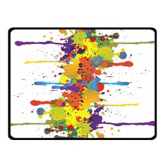 Crazy Multicolored Double Running Splashes Double Sided Fleece Blanket (Small)