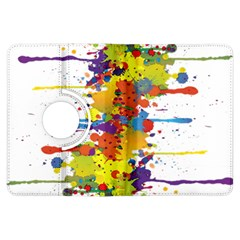 Crazy Multicolored Double Running Splashes Kindle Fire Hdx Flip 360 Case