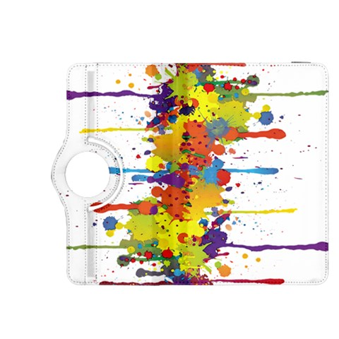 Crazy Multicolored Double Running Splashes Kindle Fire HDX 8.9  Flip 360 Case