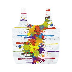 Crazy Multicolored Double Running Splashes Full Print Recycle Bags (M)
