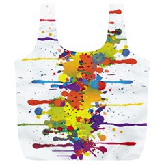 Crazy Multicolored Double Running Splashes Full Print Recycle Bags (L)