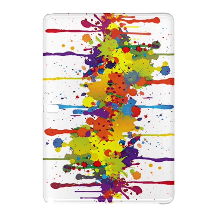 Crazy Multicolored Double Running Splashes Samsung Galaxy Tab Pro 10.1 Hardshell Case