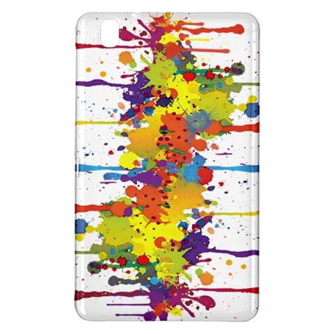 Crazy Multicolored Double Running Splashes Samsung Galaxy Tab Pro 8.4 Hardshell Case