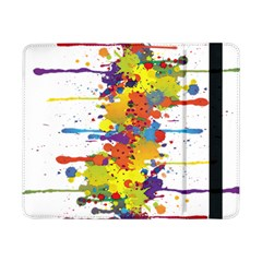 Crazy Multicolored Double Running Splashes Samsung Galaxy Tab Pro 8 4  Flip Case